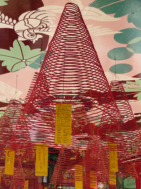 Spiral Incense in the Thien Hau Temple