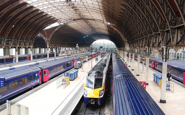 Impressive arches of London Paddington