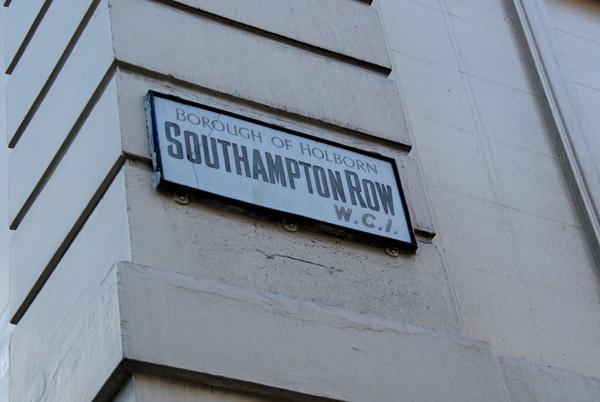 Southampton Row WC1
