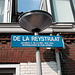 Sign of the De La Rey Street in Leiden