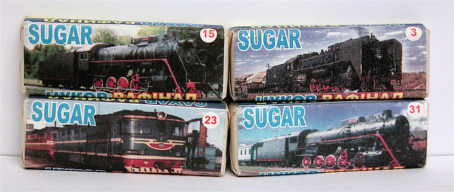 Sugar Cubes from the Ukrainian train