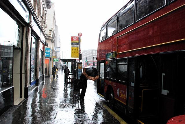 Paddington Bus station in the rain