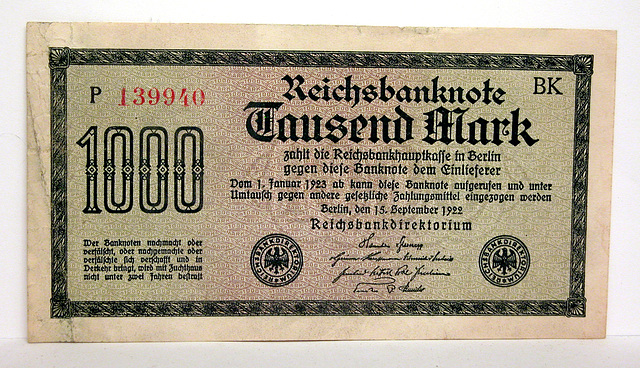 German money from the inflation period