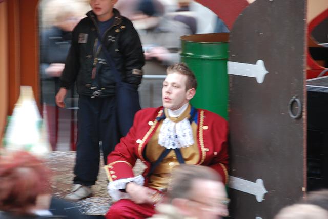 Carnaval boy in Leuven, Belgium