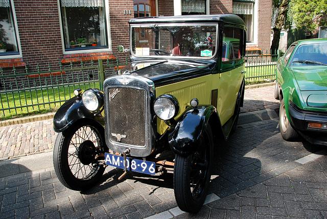 Oldtimer day at Ruinerwold: 1930 Austin Seven Box Saloon Type RL
