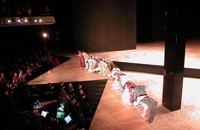 "Opera ""L'incoronazione di Poppea"": Performers taking their bow"
