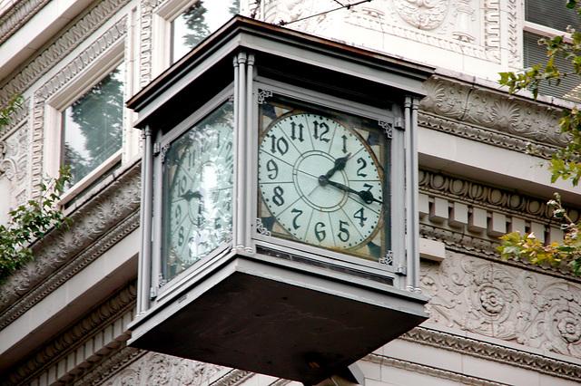 Portland images: clock