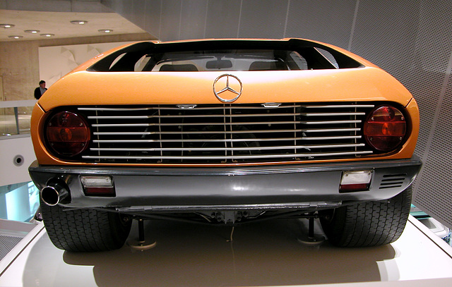 In the Mercedes-Museum: Mercedes C111