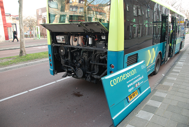 Connexxion Berkhof Ambassador 200 bus with some engine trouble