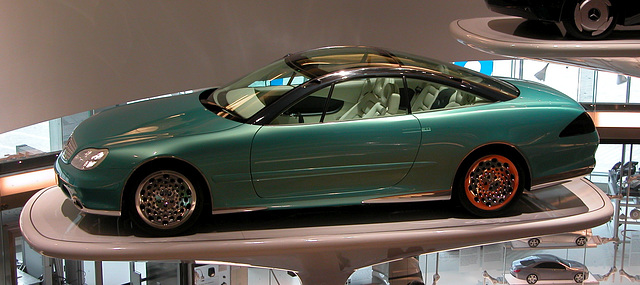 In the Mercedes-Museum: concept car