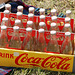 Oldtimer day at Ruinerwold: Coca-Cola bottles