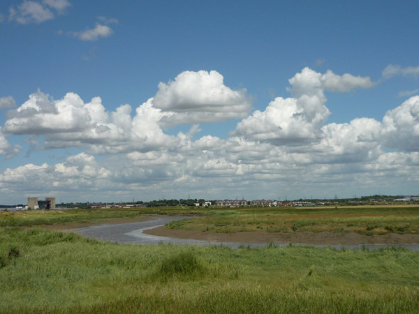 Looking back along the Darent