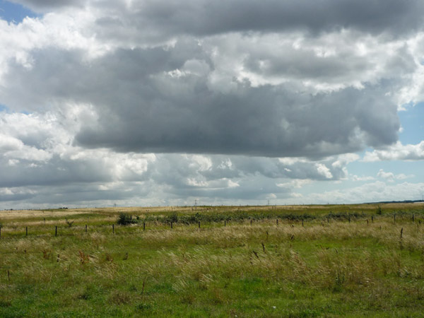Ominous clouds over Crayford Marshes