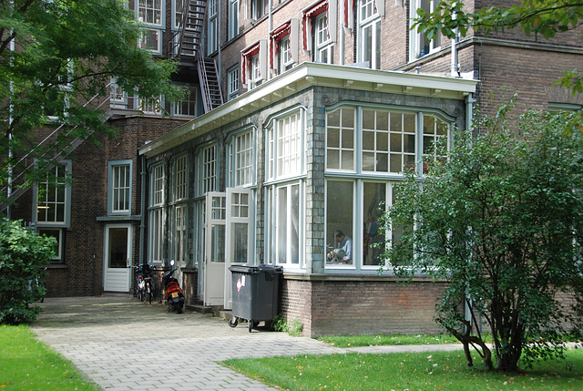 Part of the old Gate Building of Leiden University Hospital