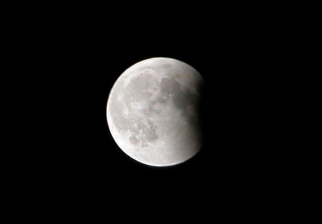 The end of the lunar eclipse