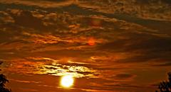 Coucher de soleil…..