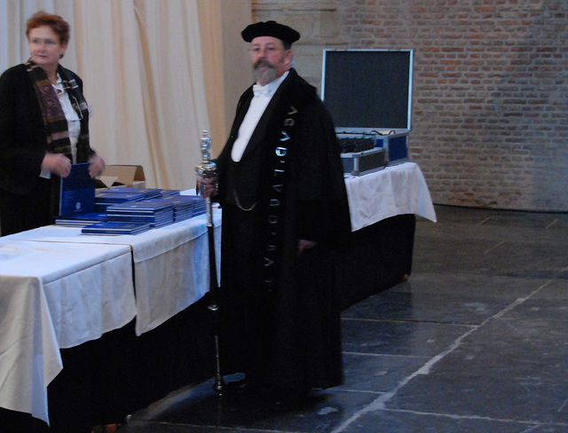 433rd dies natalis of Leiden University: the Beadle of Leiden University Willem van Beelen
