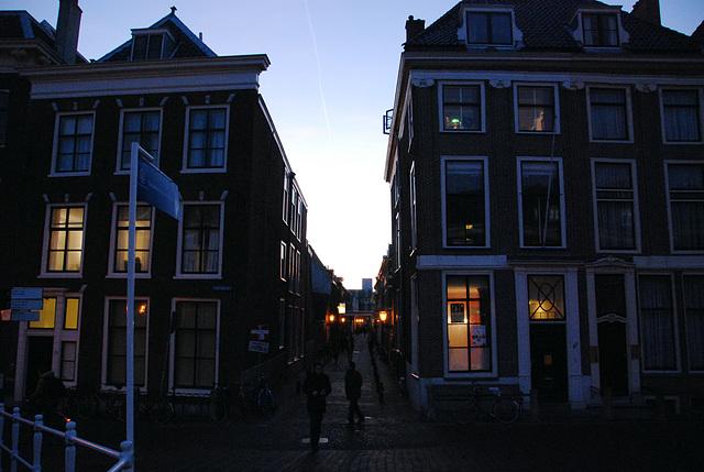 433rd dies natalis of Leiden University: after the dies; the Doelen Alley in Leiden