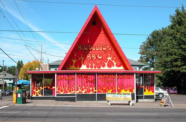 Portland images: BBQ restaurant