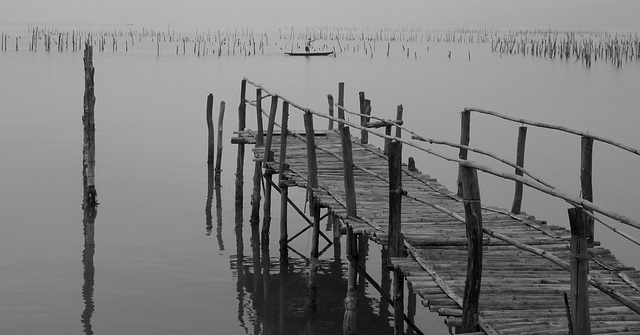 Jetty and Mussel Beds (Monochrome Version)