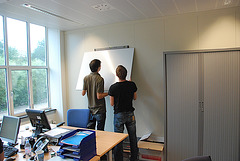 Whiteboard installation at the office