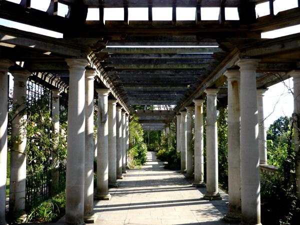Along the pergola terrace