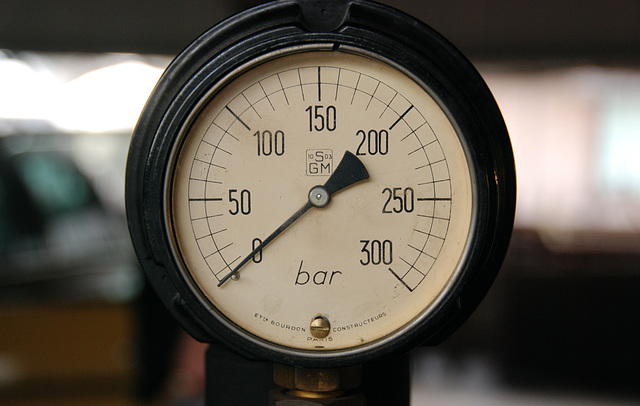 Dial of a diesel nozzle tester