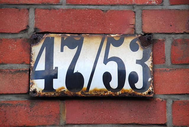 Enamel house numbers