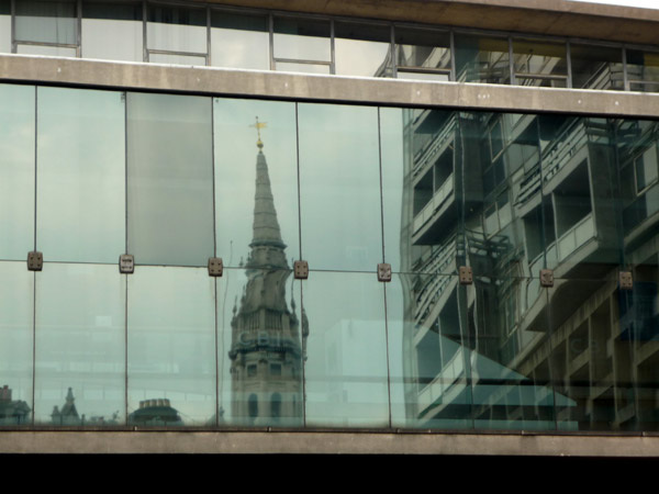 St Giles in the Fields reflected