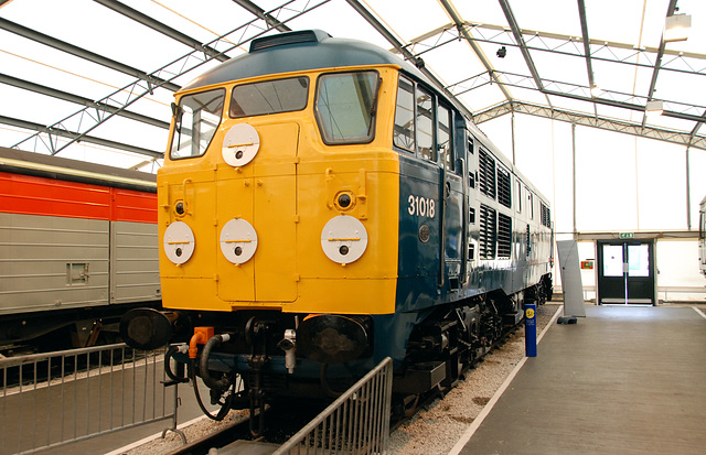 Engine 31018 at the National Railway Museum in York