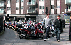 Motor bike and moped parking place