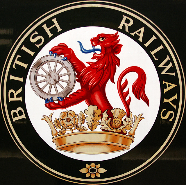 A visit to the National Railway Museum in York: old British Railways logo