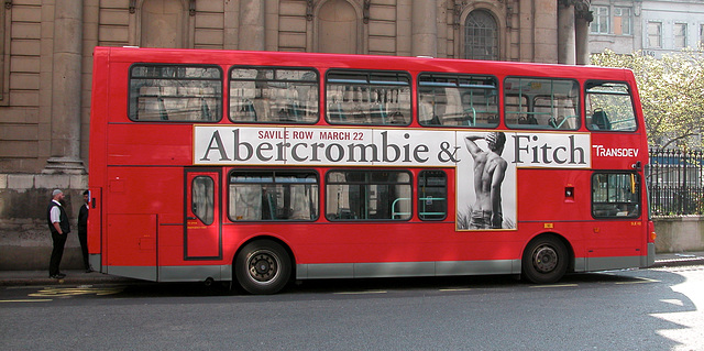 Advertisement for a Abercrombie & Fitch store