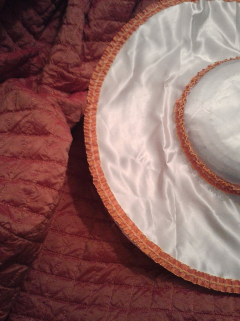 18th c hat  & petticoat