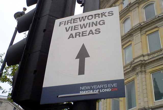 Fireworks viewing area for New Year's Eve