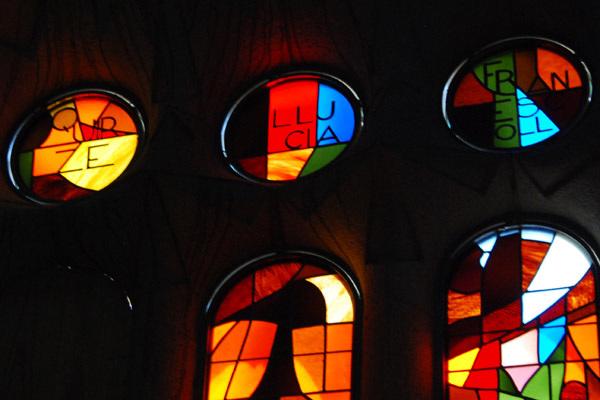 Stained glass detail - La Sagrada Familia