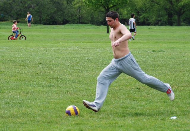 Footy at Hyde Park