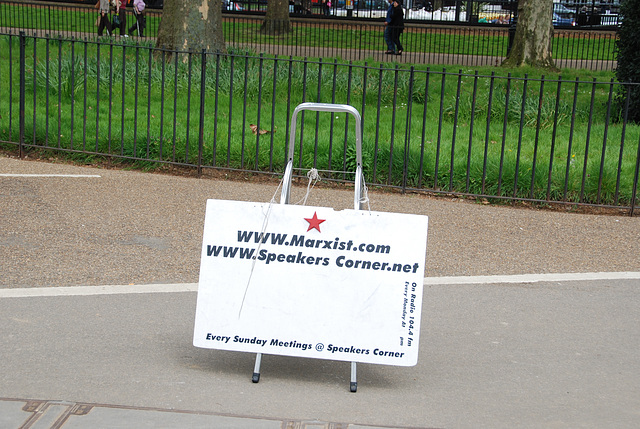 Speaker's Corner: the Marxists have left