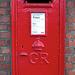 Post box at Harwich International train station