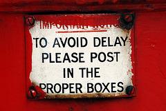 Avoid delay