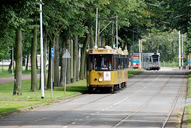 Old tram and slightly newer tram