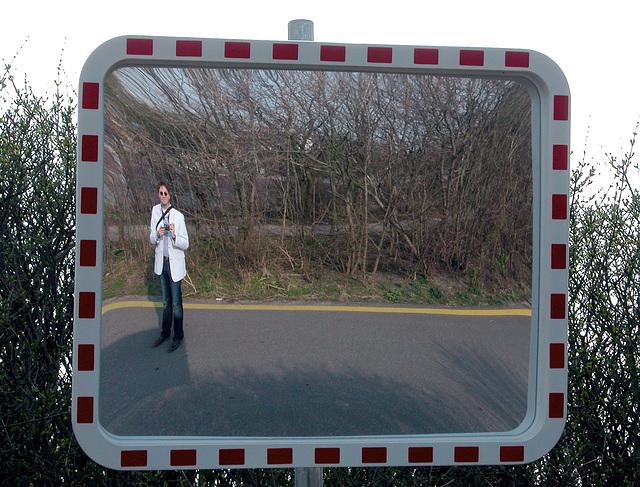 Me in a convex mirror