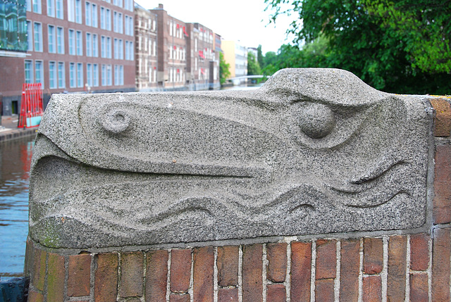 Some old pics: Ornament on a bridge in Amsterdam