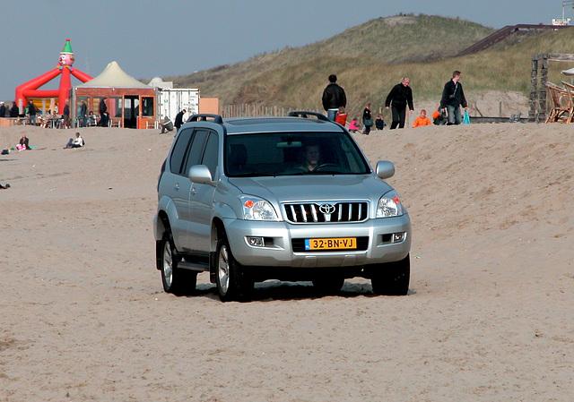 Toyota on the beach