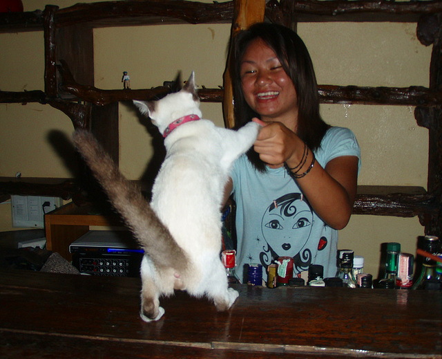 Nong dancing with kitty