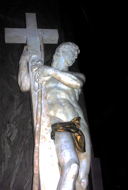 Michelangelo's The Risen Christ.