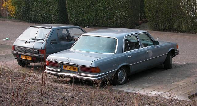 1973 Mercedes-Benz 280 SE and a Peugeot 205