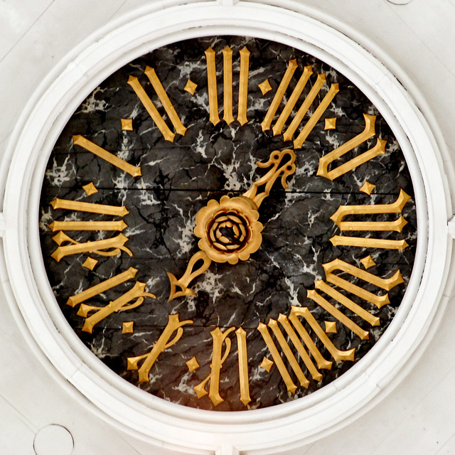 Clock in the roof of the Highland Church in Leiden