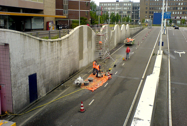 Work on the Station Square tunnel – again