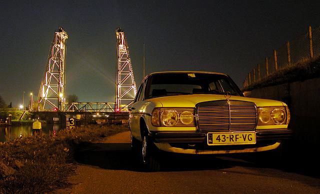 My Benz and the bridge at Alphen aan den Rijn